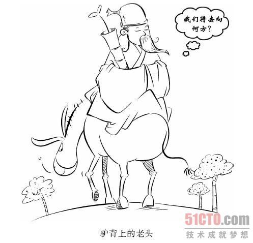 可爱简笔画驴