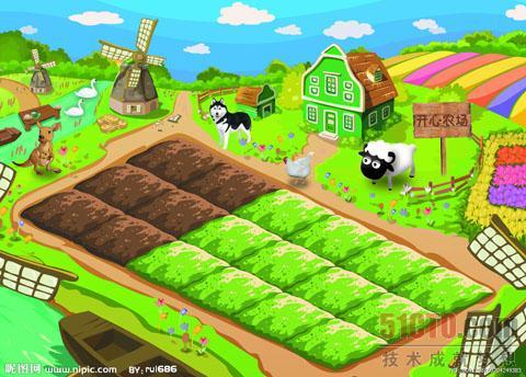 是由five  minutes公司开发的一款以种植为主的社交游戏,《开心农场》