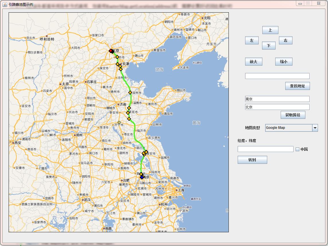 java se引路蜂地图开发示例